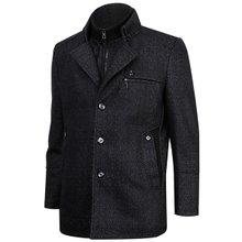 [파파브로]남자 캐주얼 탈부착 램스울 하프 자켓 코트 PC-MCOT-블랙