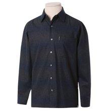[파파브로]남자 국산 울 긴팔 카라 패턴 남방 셔츠 WG-WO9-02-네이비
