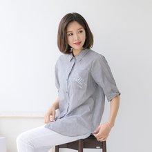 마담4060 엄마옷 레터링포켓셔츠 QDBL905012