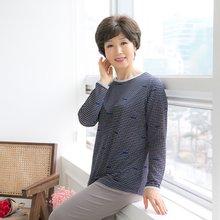 마담4060 엄마옷 봄날은간다티셔츠 QTE903053