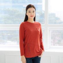 마담4060 엄마옷 사선단추라운드티셔츠-ZTE001011-