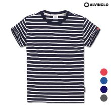 [앨빈클로] AST-3980 다양한 컬러감의 스트라이프 티셔츠