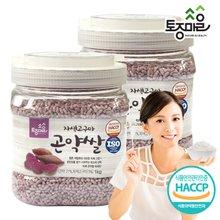 [토종마을]HACCP인증 자색고구마 곤약쌀 1kg X 2개 (총 2kg)
