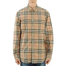 [버버리] 빈티지 체크 포플린 CAXTON 8020863 A7028 남자 셔츠