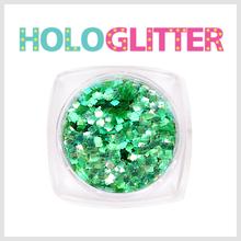 [ALICA 엘리카] 홀로글리터 사각2mm 오팔그린 -H205-