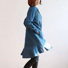 [웬디즈갤러리]프릴 데님 롱셔츠 ISH005