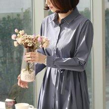 [웬디즈갤러리]허리 스트링 셔츠 원피스 UOP004