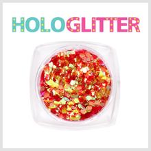 [ALICA 엘리카] 홀로글리터 사각2mm 오팔레드 -H204-