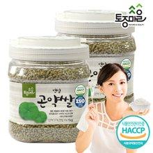 [토종마을]HACCP인증 연잎 곤약쌀 1kg X 2개 (총 2kg)
