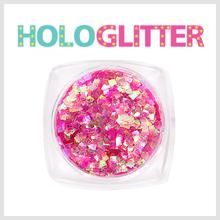 [ALICA 엘리카] 홀로글리터 사각2mm 오팔핑크 -H203-
