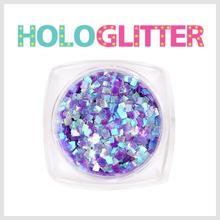 [ALICA 엘리카] 홀로글리터 사각2mm 오팔퍼플 -H202-