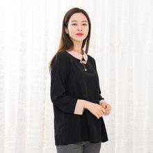 마담4060 엄마옷 리본배색카라블라우스-ZBL912010-