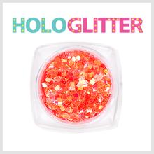 [ALICA 엘리카] 홀로글리터 사각2mm 오팔오렌지 -H200-