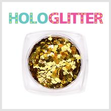 [ALICA 엘리카] 홀로글리터 사각2mm 골드 -H199-