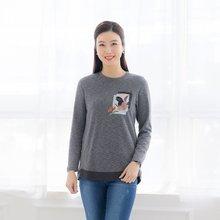마담4060 엄마옷 리프배색티셔츠 ZTE002014