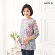 엄마옷 모슬린 봄맞이 라운드 티셔츠 TS004013