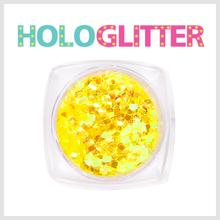 [ALICA 엘리카] 홀로글리터 사각2mm 오팔옐로 -H196-