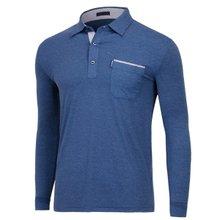 [파파브로]남성 국산 패턴 카라 긴팔 티셔츠 LM-A9-283-네이비