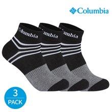 컬럼비아 남성 스포티 라인 발목양말 3P_BK