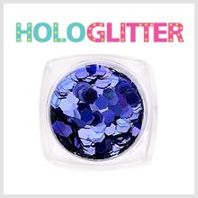 [ALICA 엘리카] 홀로글리터 육각3mm 딥퍼플 -H193-