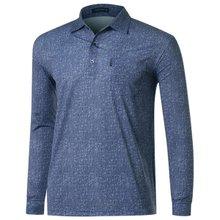[파파브로]남성 국산 패턴 스판 카라 티셔츠 LM-A9-254-네이비