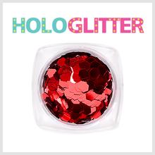 [ALICA 엘리카] 홀로글리터 육각3mm 레드 -H192-
