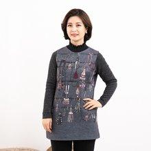 마담4060 엄마옷 커튼콜폴라티셔츠-ZTE912135-