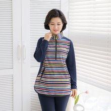 마담4060 엄마옷 무지개줄무늬티셔츠 ZTE002008