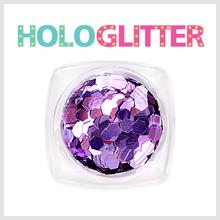 [ALICA 엘리카] 홀로글리터 육각3mm 퍼플 -H190-