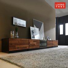 스칸센 멀바우 디럭스 높은 2700 거실장 풀세트(흑경상판)_MRLW033