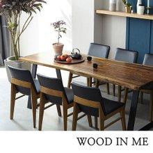 우드인미 장미목 6인용 원목식탁 세트2000A-ap 의자6개포함/로즈우드/호피목