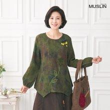 엄마옷 모슬린 인견 꽃도리 생활한복 상의 KD004026