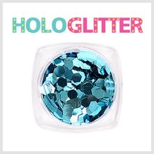 [ALICA 엘리카] 홀로글리터 육각3mm 아쿠아블루 -H188-