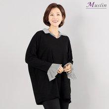 셔츠 레이어드 티셔츠 -TS8030132-모슬린 엄마옷 마담