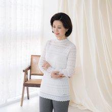 마담4060 엄마옷 시스루레이스티셔츠 ZTE002005