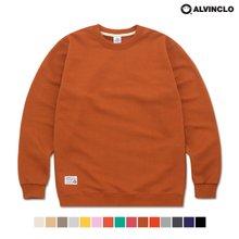 [앨빈클로]MAR-710 500g 3단쭈리 루즈핏 무지 맨투맨 티셔츠