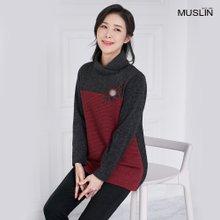 엄마옷 모슬린 세라 플라워 폴라 티셔츠 TP910101