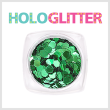 [ALICA 엘리카] 홀로글리터 육각3mm 그린 -H186-