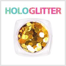 [ALICA 엘리카] 홀로글리터 육각3mm 골드 -H183-
