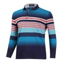 [파파브로]남성 스트라이프 긴팔 카라 티셔츠 LM-A-7831-2-블루