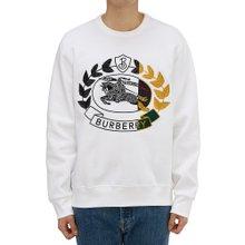 [버버리] 엠브로이더리 크레스트 RENSHAW 8007074 A1464 남자 긴팔 기모 맨투맨 티셔츠