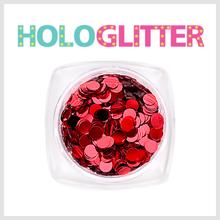 [ALICA 엘리카] 홀로글리터 라운드3mm 레드 -H180-