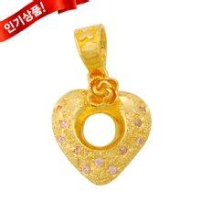 [골드모아]순금 메달 3.75g 24k [ 하트 장미 ]