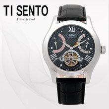 티센토(TISENTO) 남성손목시계(TS50091BWTBK/가죽밴드/오토매틱)