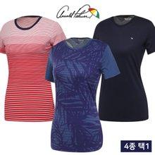 [아놀드파마] 여름 데일리 이지웨어 여성 라운드넥 반팔티셔츠 4종 택1/골프웨어_246147