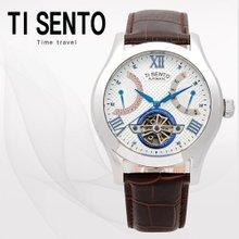 티센토(TISENTO) 남성손목시계(TS50091WTCH/가죽밴드/오토매틱)