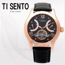 티센토(TISENTO) 남성손목시계(TS50091BROBK/가죽밴드/오토매틱)