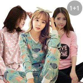[블론디] 균일가 무배 2벌 가을신상 파자마 상하세트 원피스 잠옷 반팔 잠옷  홈웨어/예쁘고 편안한 잠옷