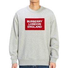 [버버리] 로고 아플리케 FAWSON 8021431 A2142 남자 긴팔 맨투맨 티셔츠