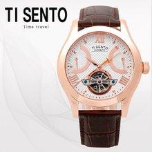티센토(TISENTO) 남성손목시계(TS50091ROCH/가죽밴드/오토매틱)